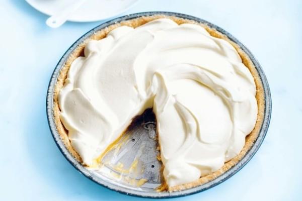 Coconut and Passionfruit Cream Pie. Photo Credit: Epicurious.
