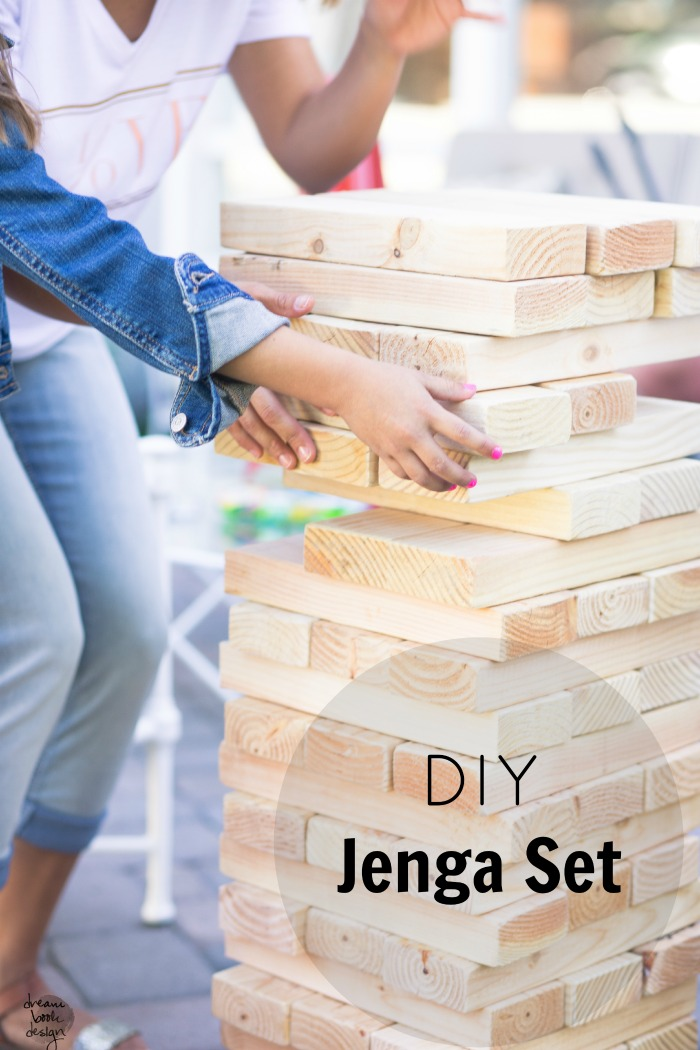 DIY Giant Jenga. PC: Dream Book Design
