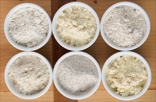 Different types of gluten free flour. Photo Credit: One Good Thing by Jillee