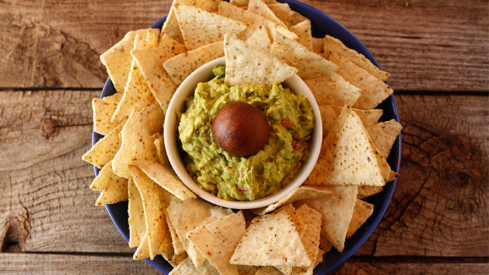 Chips with Guacamole. Photo Credit: Rachael Ray Show.