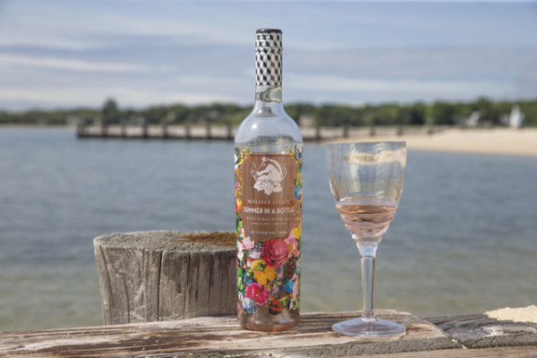 Wolffer Estate Vineyard's Summer in a Bottle Rose. Photo Credit: North Forker.