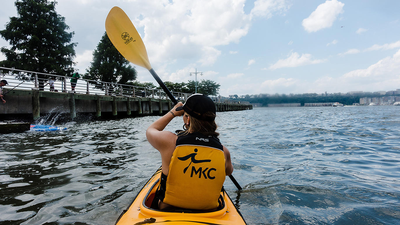 Kayaking on the Hudson. Photo Credit: TimeOut NY.
