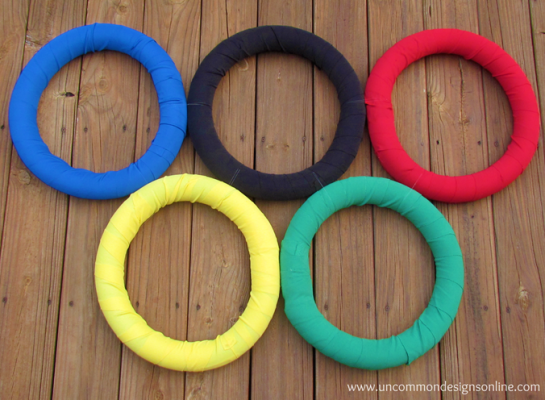 DIY Olympic Rings. Photo Credit: Uncommon Designs.