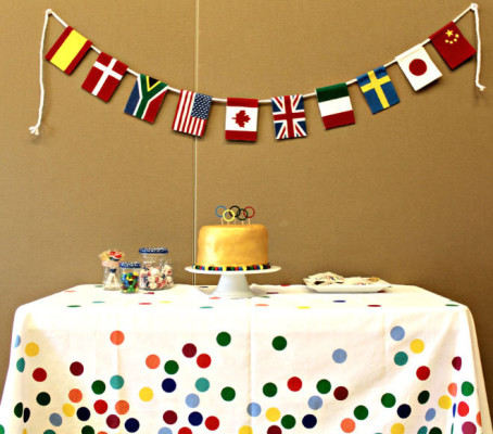 Olympics Birthday Party Feature. Photo Credit: Love the Day.
