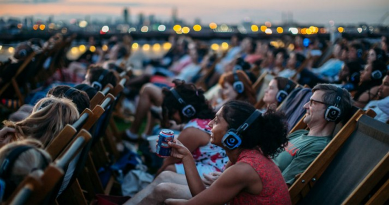 Crowd enjoying an outdoor film. Photo Credit: TimeOut NY.