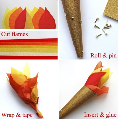 DIY Olympic Torch. Photo Credit: Kate's Creative Space.